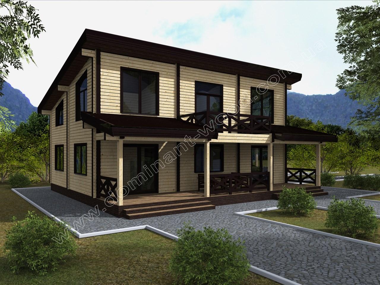 Новий проект будинку з сухого брусу Гордетан — Доминант