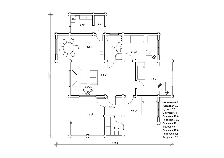 Дерев'янний будинок «Гранль3»