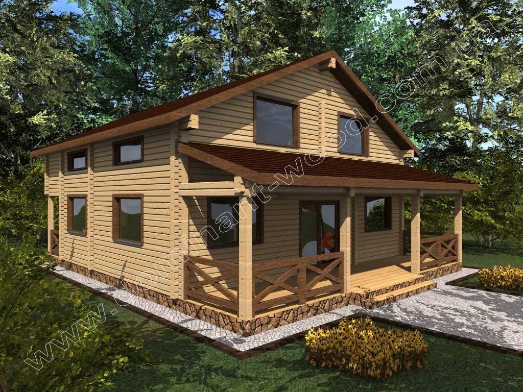 Новий проект будинку з сухого брусу Кріанд — Доминант
