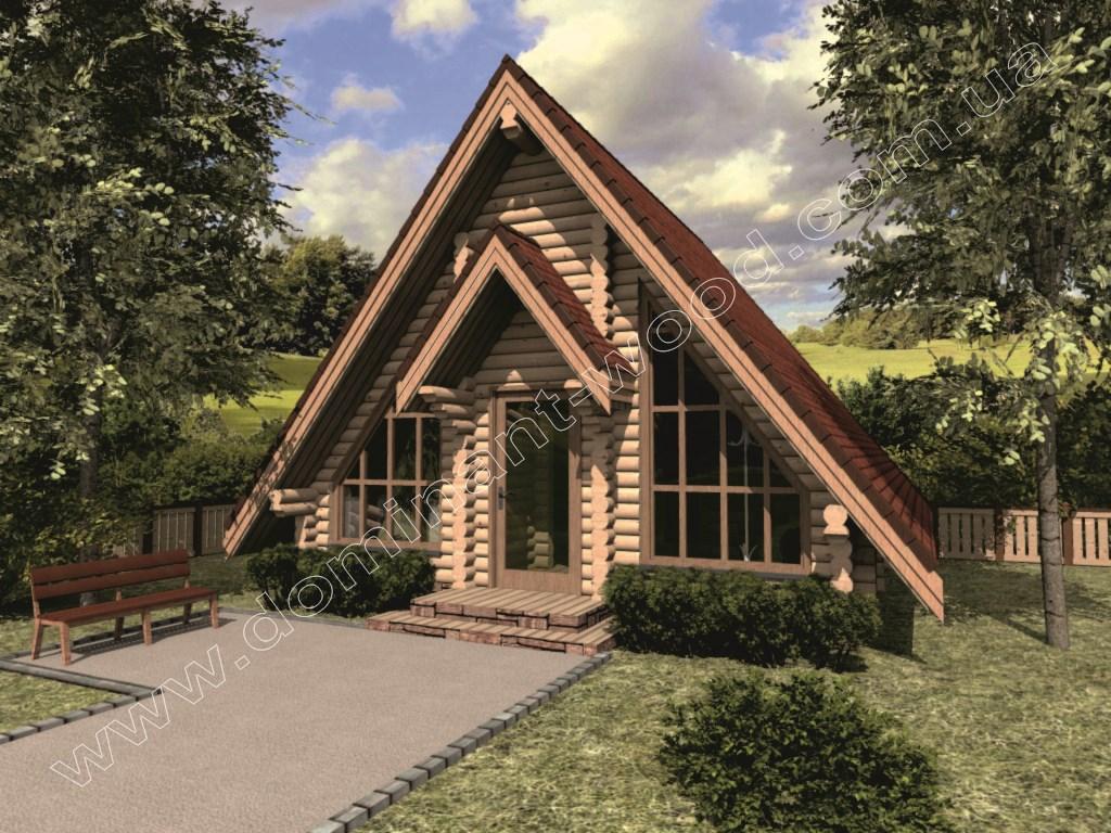 «Лекід1» - одноповерховий дерев'яний котедж 6х6м