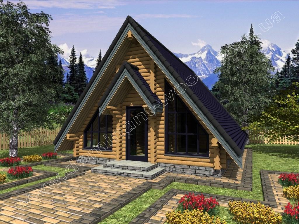 «Лекід2» - одноповерховий дерев'яний будинок 8х6м