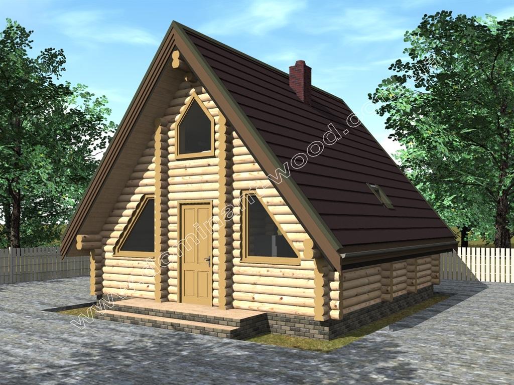 «Лекід5» - двоповерховий дерев'яний будинок 6,7х6,2 м