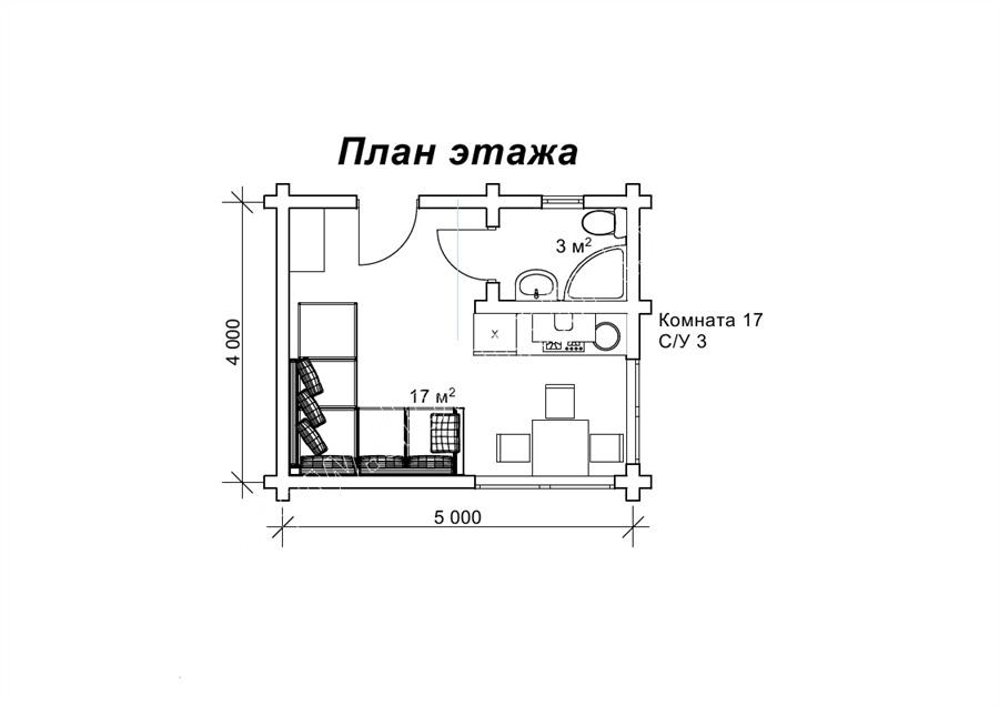 «Марципан» — літня кухня або садовий будиночок 4 на 5 м