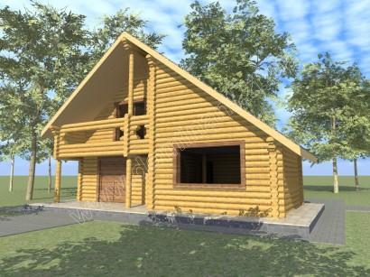 Готовий проект будинку 10х10 з бруса