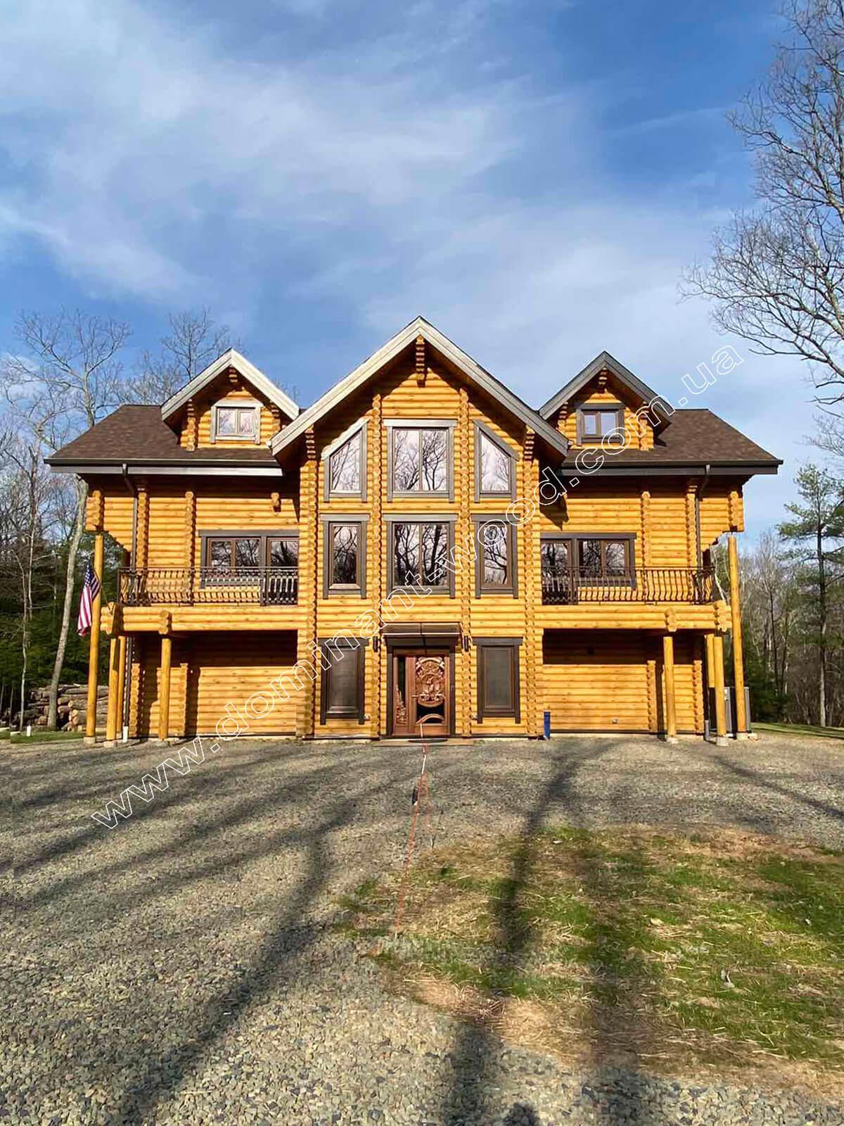 Індивідуальний проект дерев'яної садиби в США