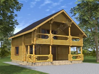 Проект будинку 8х8 з бруса