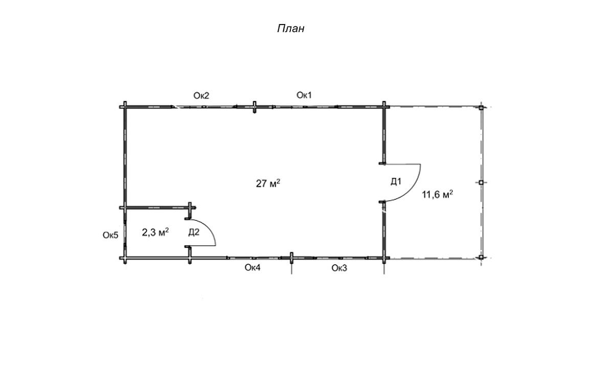 Будиночок-студія з сухого профільованого бруса
