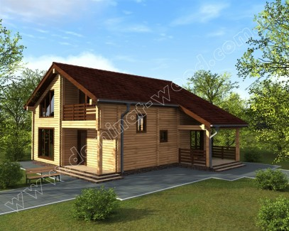 Заміські котеджі: проект нового будинку Эміус - Домінант