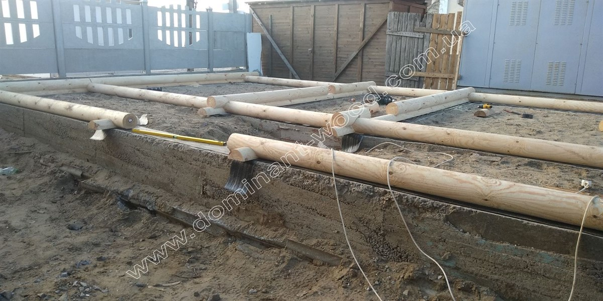 фундамент под деревянную гостиницу