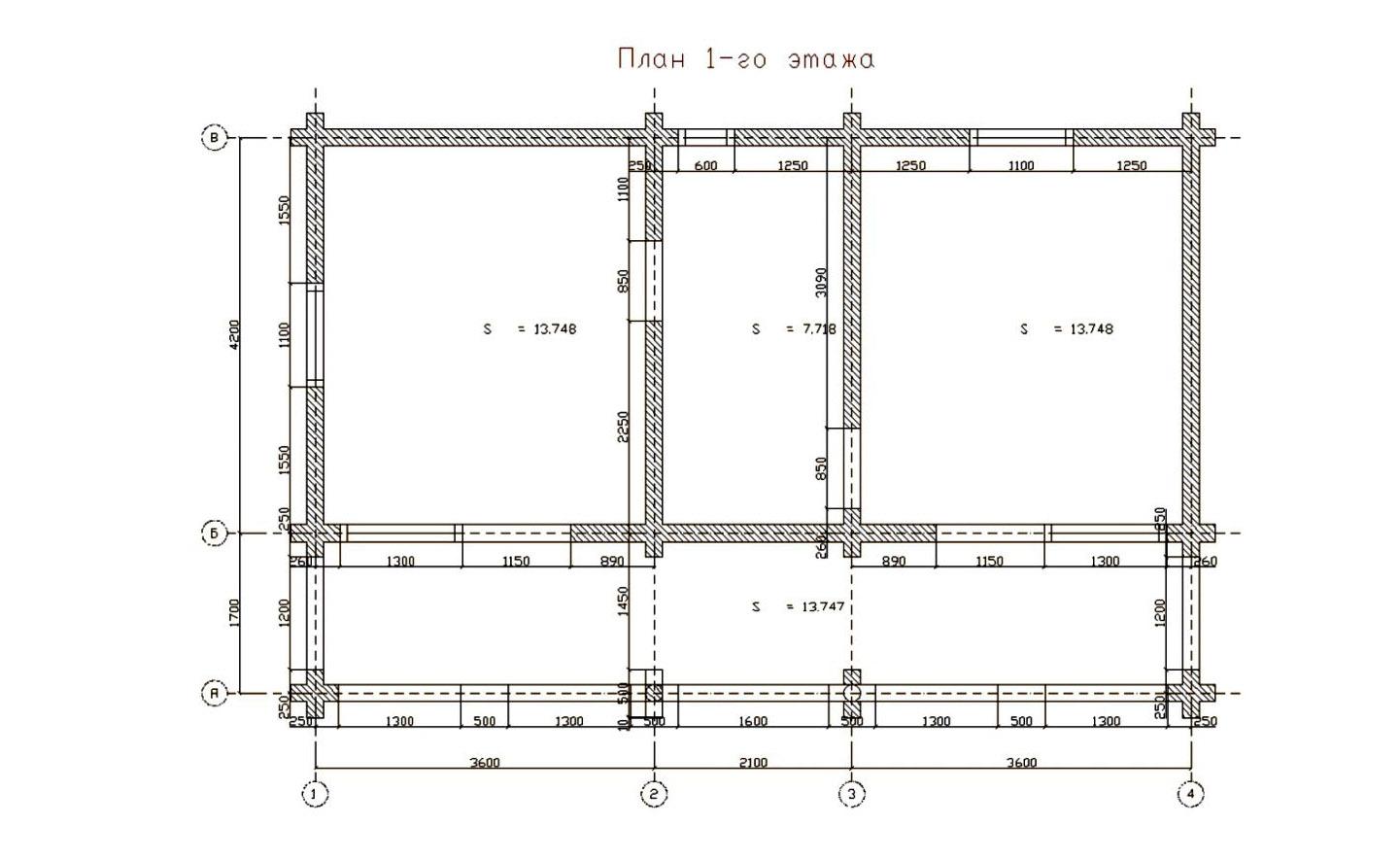 план двоповерхового готелю