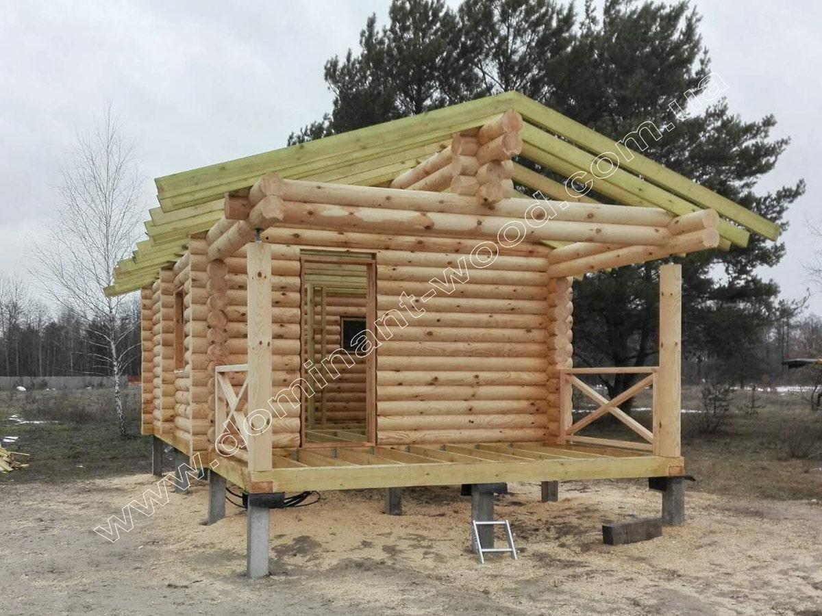 Установка дерев'яного зрубу