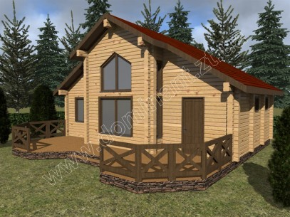 Вибираємо готовий проект будинку з лазнею - Домінант
