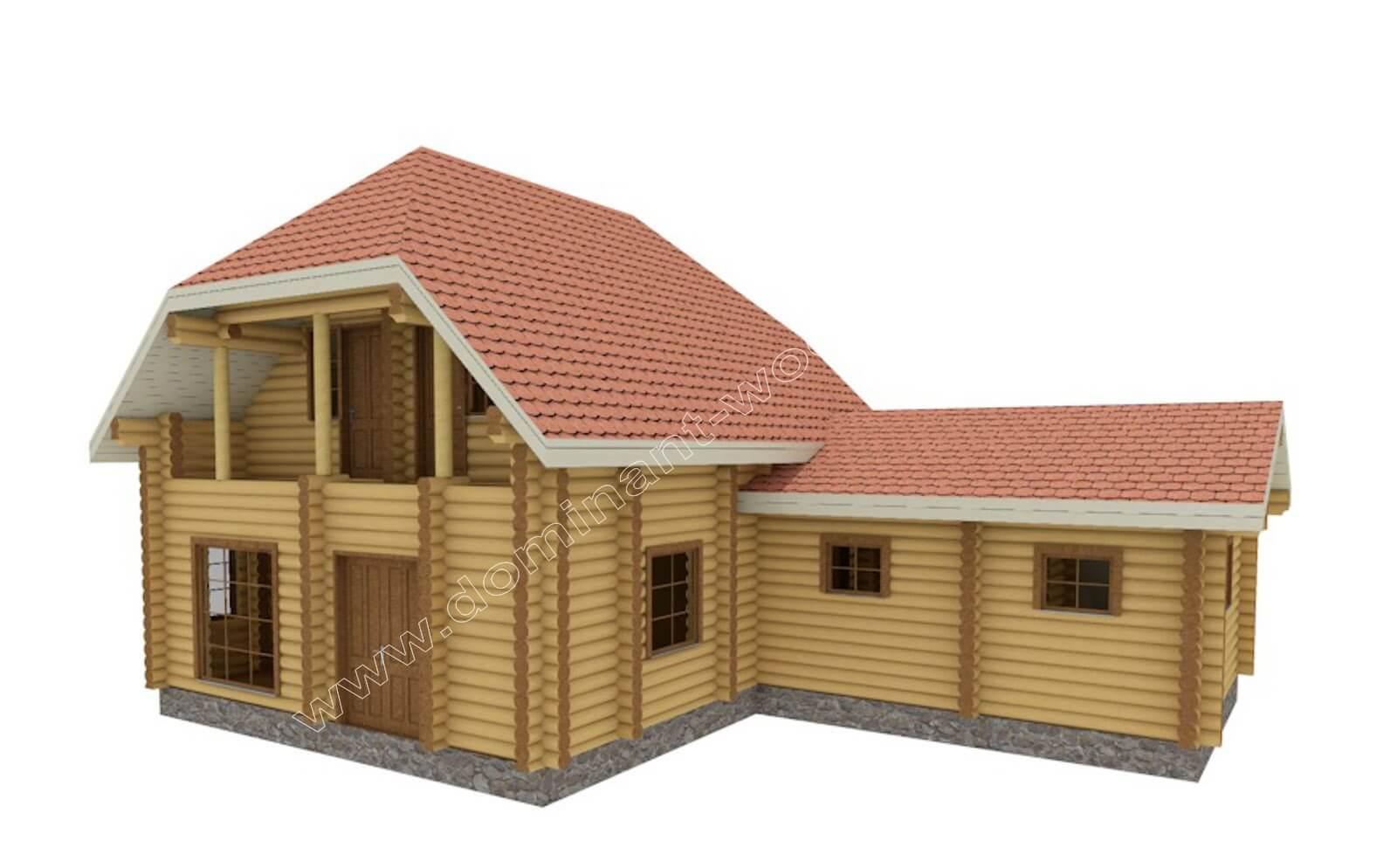 будинок зі зрубу і Угорщині