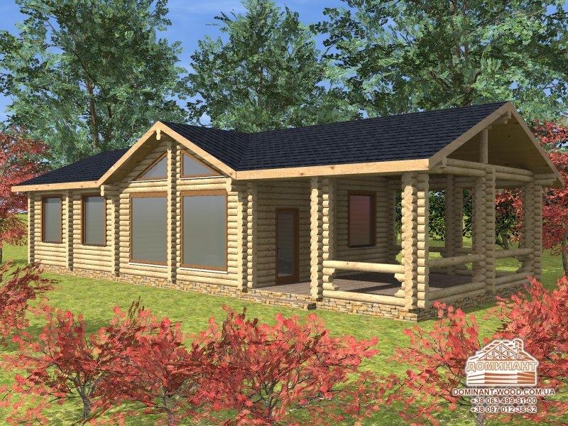 Будівництво готового проекту будинку з оциліндрованих колод