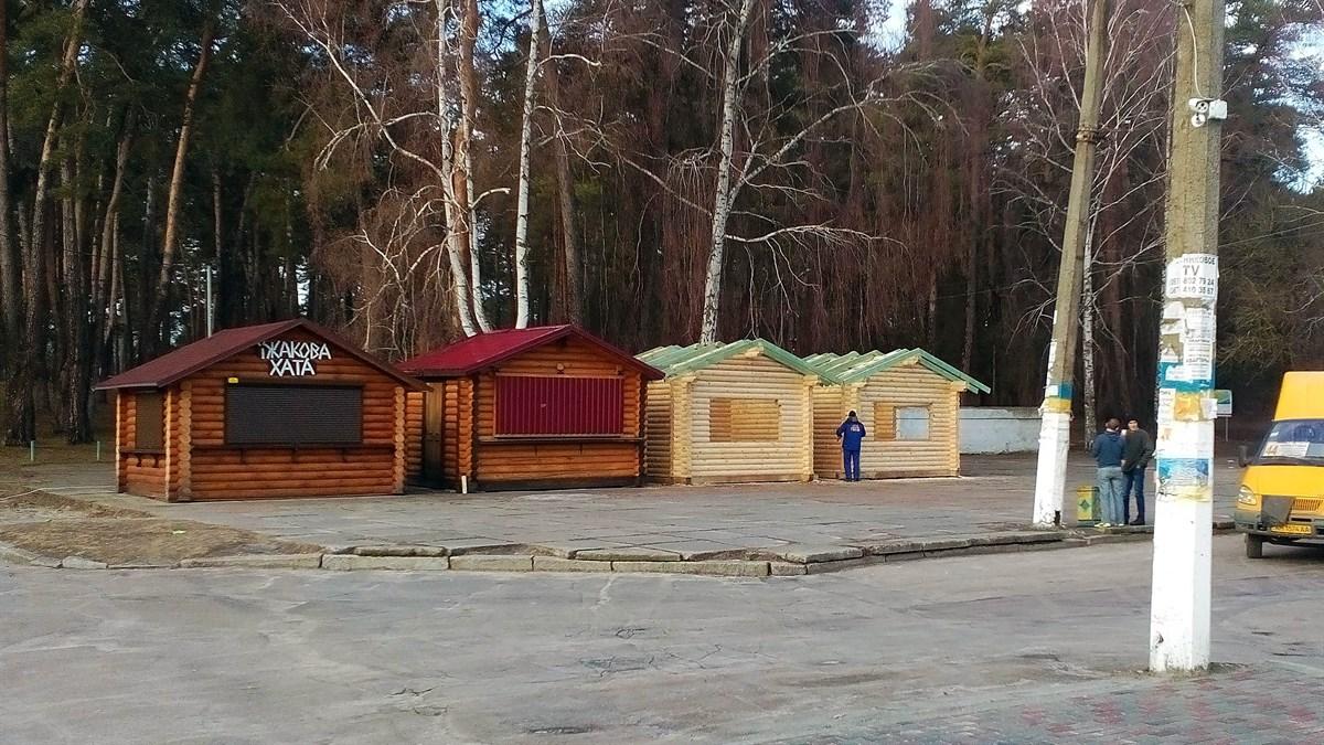 деревянные киоски