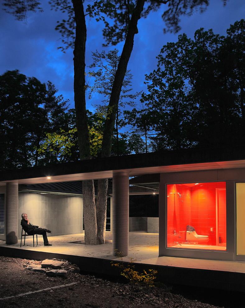 Особенности дизайна дома с деревьями на террасе