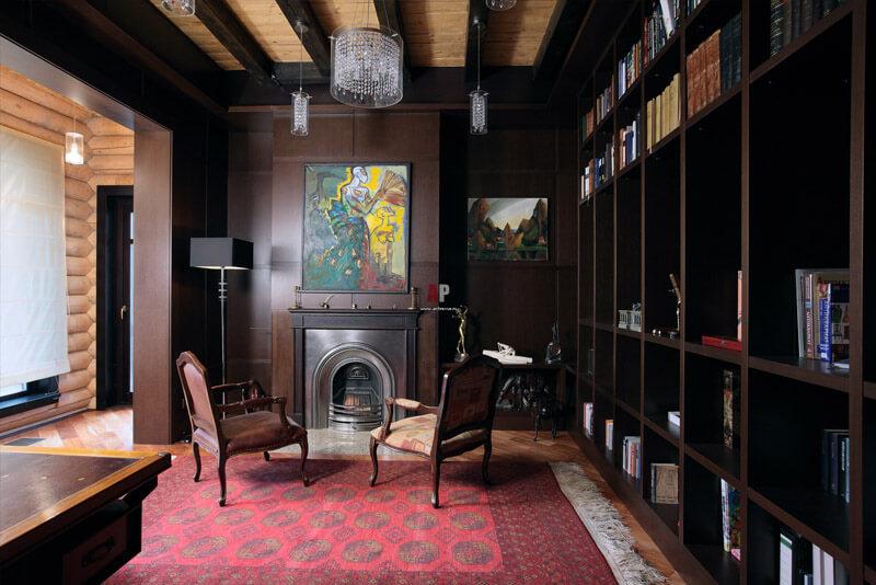 Дерев'яний інтер'єр бібліотеки