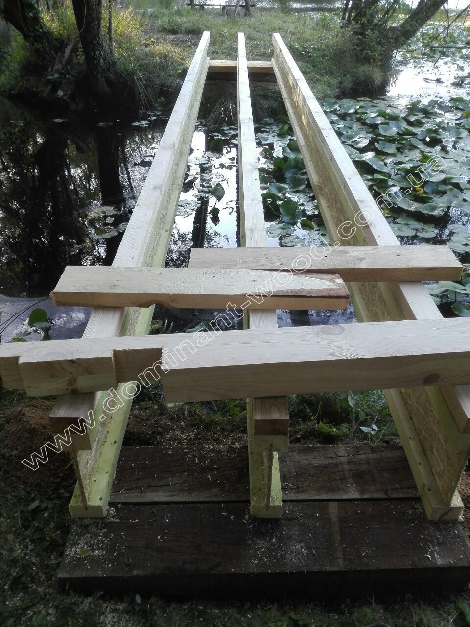 мост из бревен