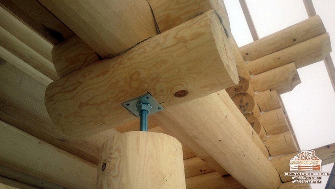 усадка дерев'яного будинку