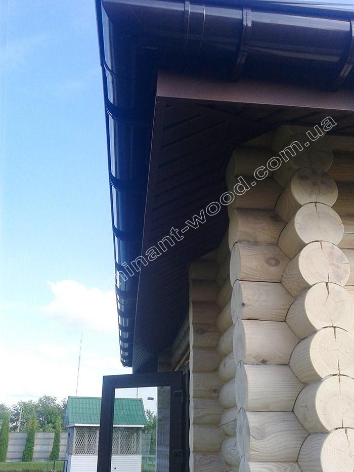 Подбор системы водостоков в проект дома из бруса