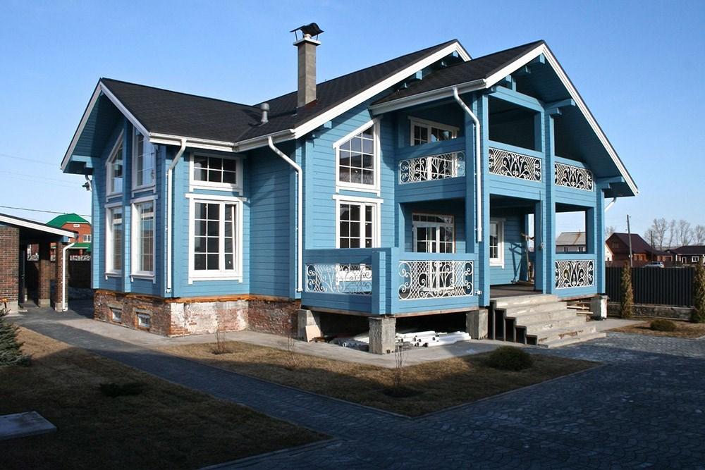 Засоби для зовнішнього покриття дерев'яного будинку