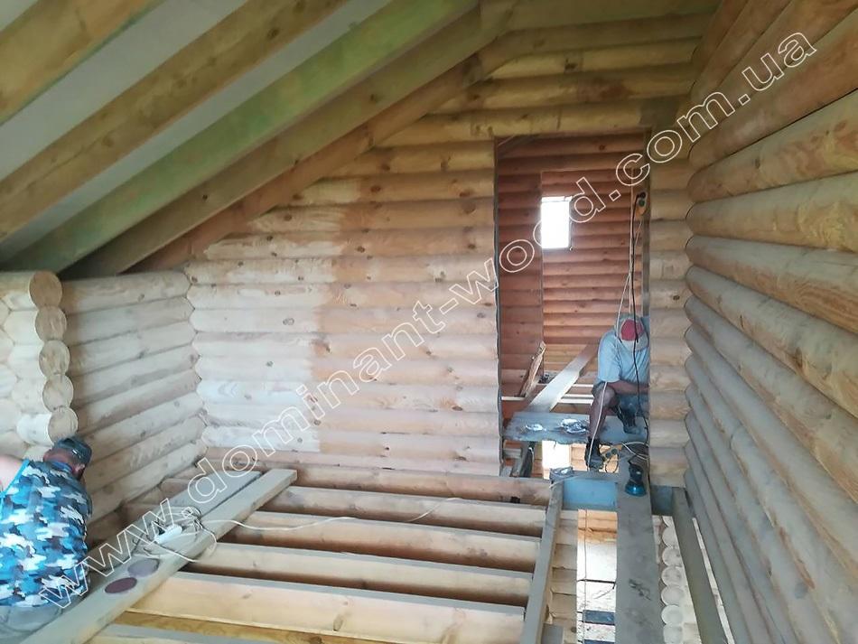 як шліфувати стіни дерев'яного будинку