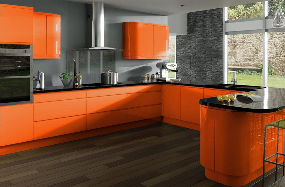 Графітовий + помаранчевий
