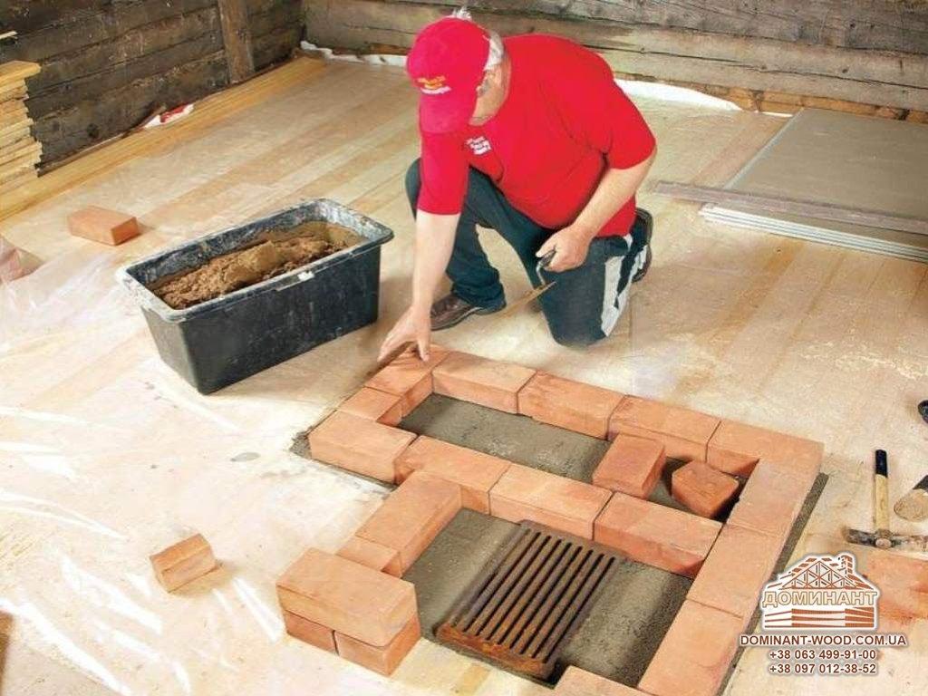 Стройка бани своими руками из кирпича 18