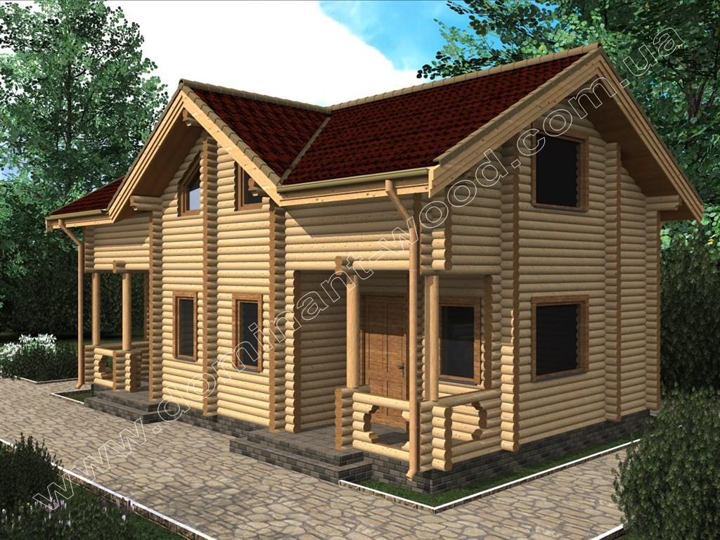 7ce5e42efc7 Курортний котедж на дві сім`ї - Проект Затишок2