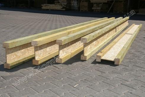 Дерев'яна двотаврова балка 75х320 мм
